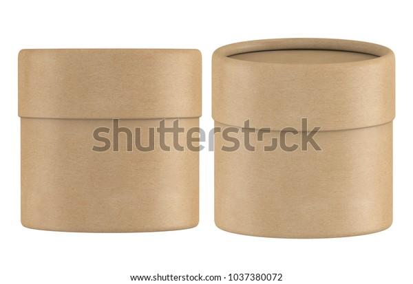 3d Rendering Small Kraft Paper Tube Stock Illustration