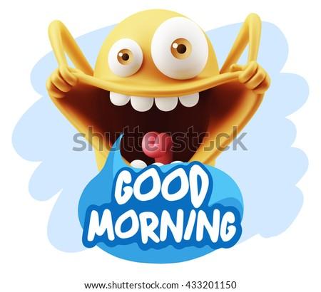 kid saying good morning
