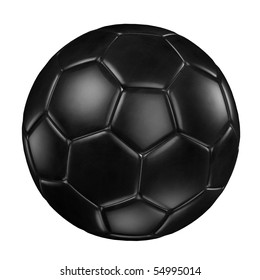 3d rendering of a soccer ball. ( Leather texture )