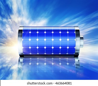 3D rendering of a solar battery