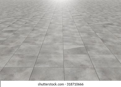 3d rendering of a square tiles floor