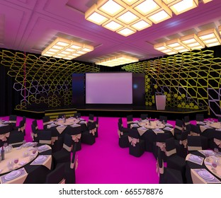 3d Rendering - Stage backdrop