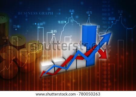 3 D Rendering Stock Market Online Business Stock Illustration ...