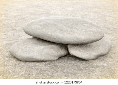 3d rendering of stones antique style