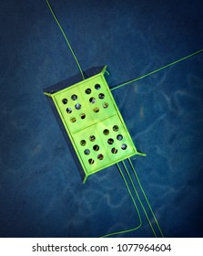 3d rendering of a subsea manifold seen from above