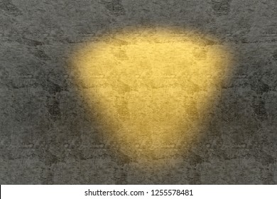 3d rendering of sunlight on old wall