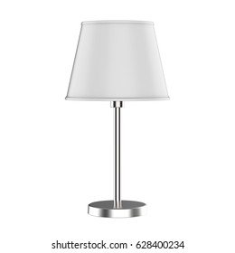 3d rendering table lamp isolated on white