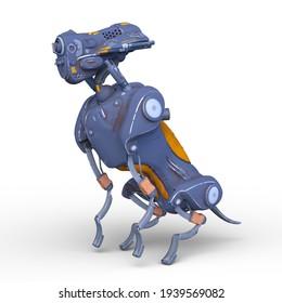 3D rendering of technology robot