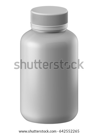 3 d rendering template gloss plastic bottle stock illustration