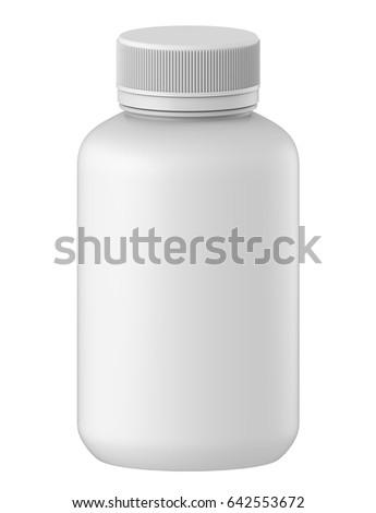 3 d rendering template plastic bottle cap stock illustration