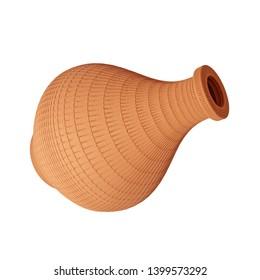 3d Rendering of terra cotta jug