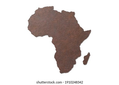 3d rendering of a textured Africa map isolated on white background