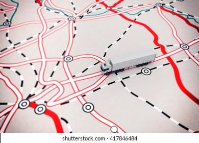 3D rendering of transport map