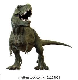 3D rendering of Tyrannosaurus Rex.