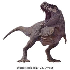 3D rendering of a Tyrannosaurus Rex roaring.