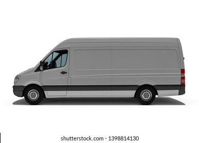 3d rendering of Van or truck of freight forwarder or shipping company quickly delivers packages and deliveries