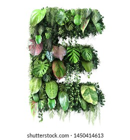3d rendering of vertical garden alphabet