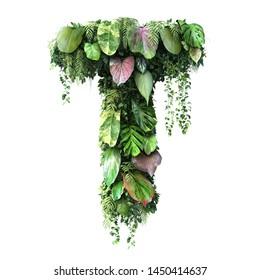 3d rendering of vertical garden alphabet