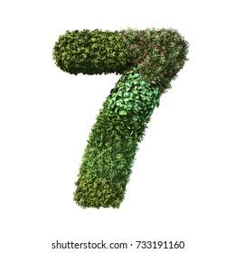 3d rendering of vertical garden number