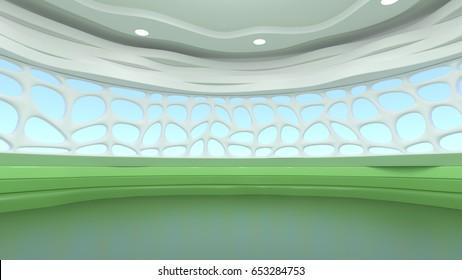 3D Rendering of Virtual Studio.
