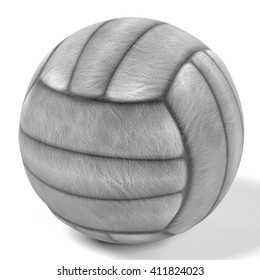 3d rendering of volleyball ball