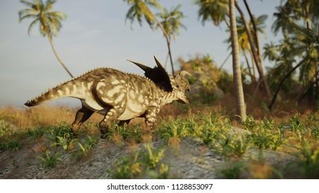 3d rendering of the walking einiosaurus