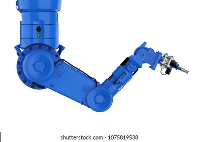 3d rendering welding robotic arm or robot hand