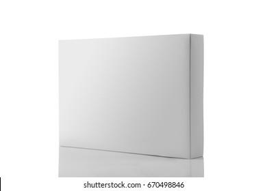 3D-Rendering von weißem Leder-Produktverpackungskasten für Modelle