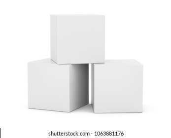 3D Rendering  White Boxes on white background