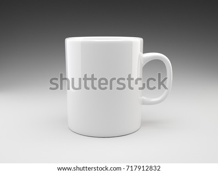 9431a0da36f 3 D Rendering White Brand Mug Empty Stock Illustration - Royalty ...
