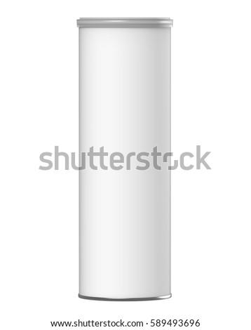 3 d rendering white carton cylinder boxのイラスト素材 589493696