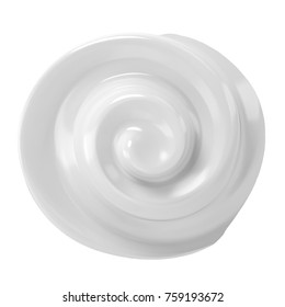3d rendering white cosmetic cream isolated on white