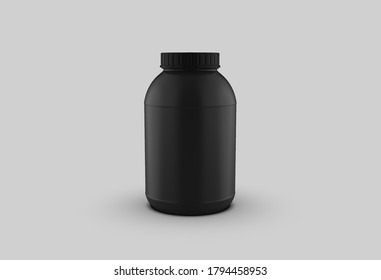 3D Rendering White Paint or Gainer 3D Rendering Black Gainer Bucket Template