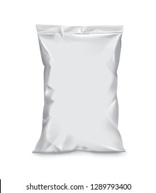 3D rendering of white pillow pouch on white background