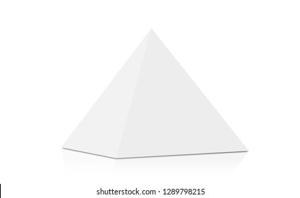 3D rendering of white triangle carton isolated on white background