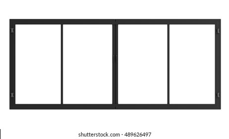 3d rendering window frame isolated on white
