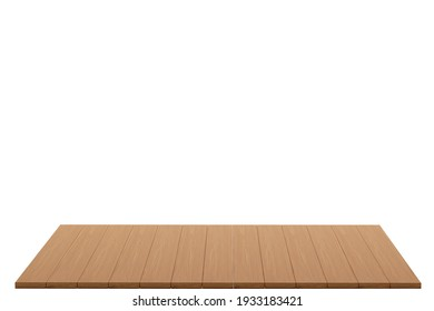 3d rendering wood board with white background