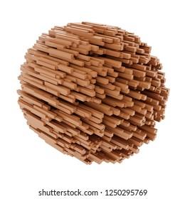 3d rendering of wooden beams cluster
