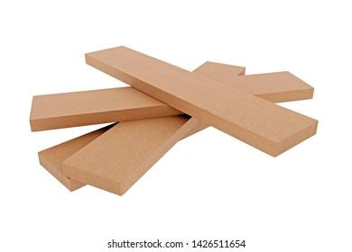 3d Rendering of wooden boards staple