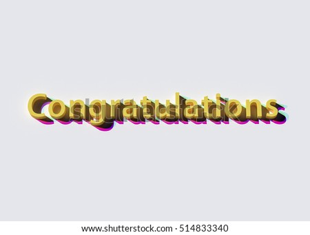 3 d rendering word congratulations stock illustration 514833340