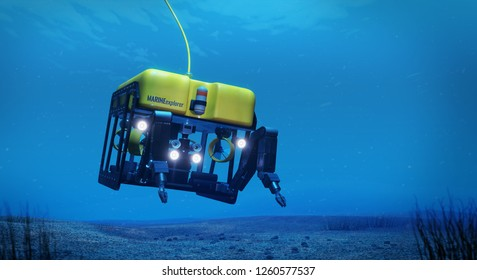 3d rendering of a work class subsea remotely operated vehicle