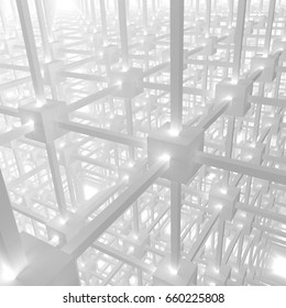 3D rendering-Regular structure of identical objects