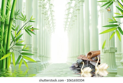 3d roman column background wallpaper for walls.