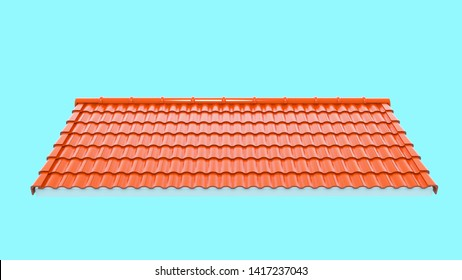 3d roof tile background,3d rendering,Tile with structure on the blue background