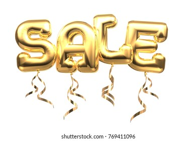 3D Sale balloon font with path for easy selection