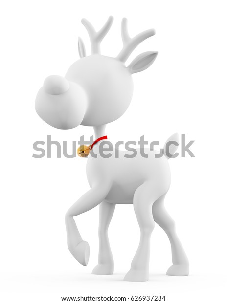 3d Santa reindeer with standing pose