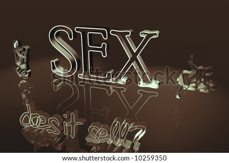 3 D Scene Letters Sex Does Stock Illustration 10259350 Shutterstock