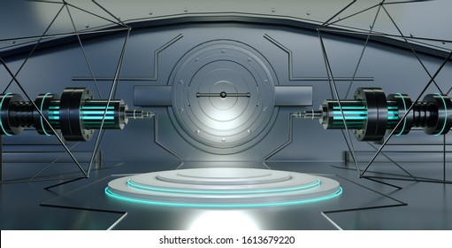 3D scene rendering of future technology artificial intelligence