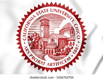 3D Seal of California State University, Chico. USA. 3D Illustration.