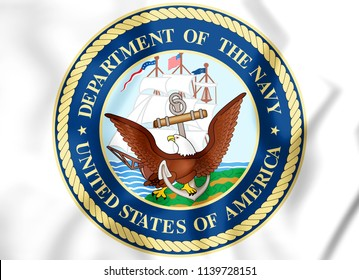 3D Seal of United States Department of the Navy. 3D Illustration.